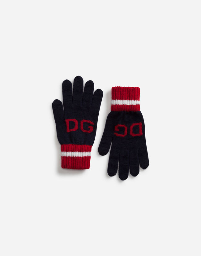Dolce & Gabbana WOOL GLOVES WITH PRINT