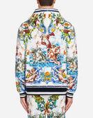 Dolce&Gabbana PRINTED COTTON HOODIE