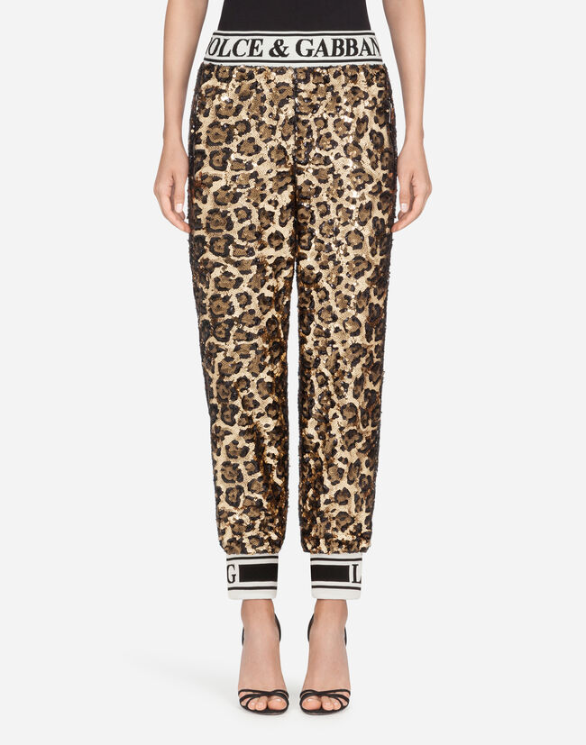 Dolce & Gabbana SEQUINED JOGGING PANTS
