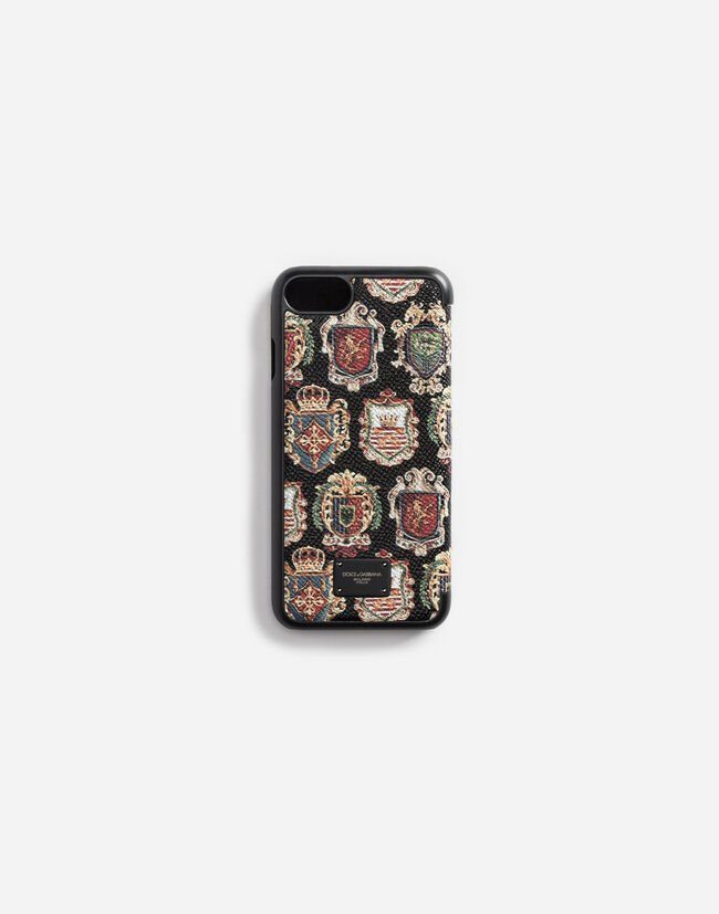IPHONE 7 COVER WITH FLAP IN PRINTED DAUPHINE LEATHER