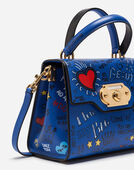 WELCOME HANDBAG IN MURAL PRINT CALFSKIN