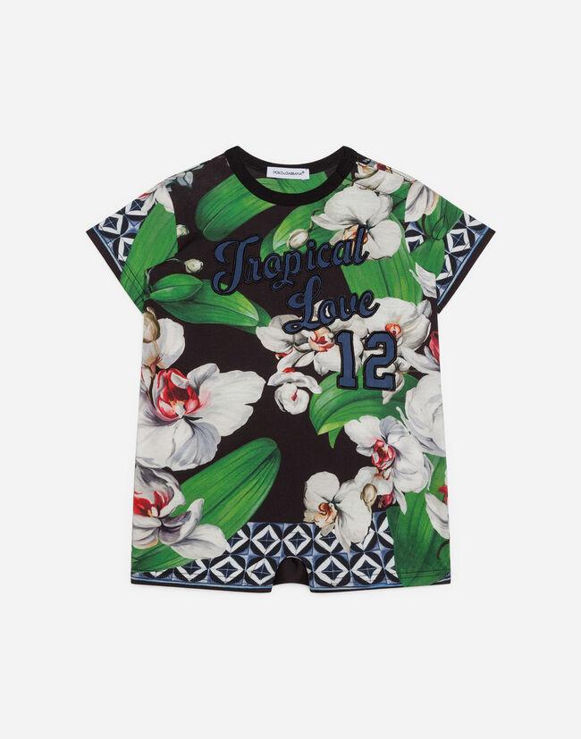 77650ce9c Newborn Boys' Rompers   Dolce&Gabbana - ORCHID-PRINT JERSEY ROMPER SUIT