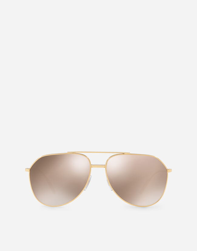 8ea55d06cc Aviator Sunglasses In Gold-Plated Metal - Men | Dolce&Gabbana