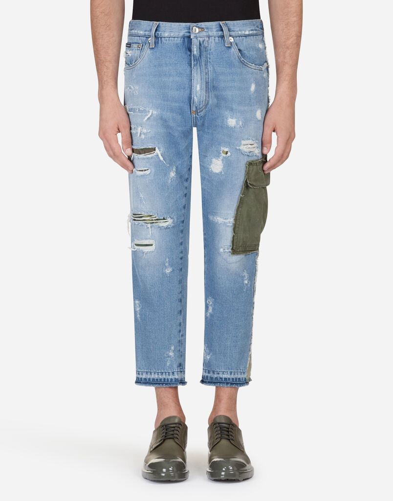 Dolce   Gabbana LOOSE FIT JEANS WITH PATCH 81f52589f11c