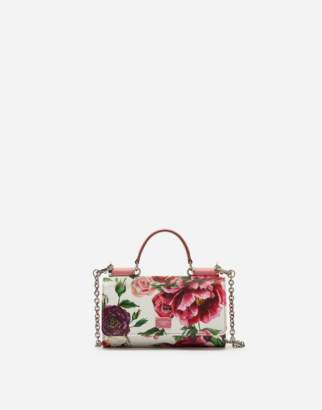 VON BAG IN PRINTED DAUPHINE CALFSKIN