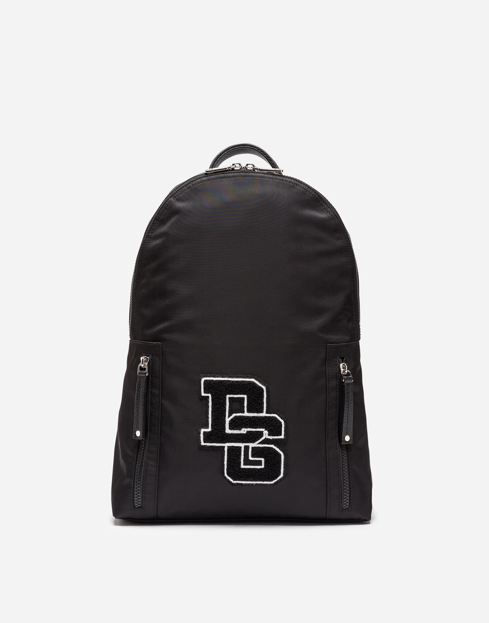 Dolce & Gabbana Logomania - VULCANO BACKPACK IN NYLON WITH LOGO PATCH