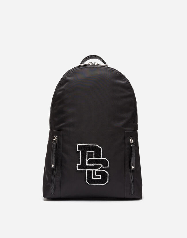 VULCANO BACKPACK IN NYLON WITH LOGO PATCH