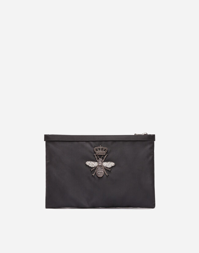 Dolce&Gabbana NYLON PRINTED PURSE WITH EMBROIDERY