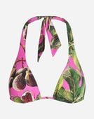 PRINTED TRIANGLE BIKINI TOP