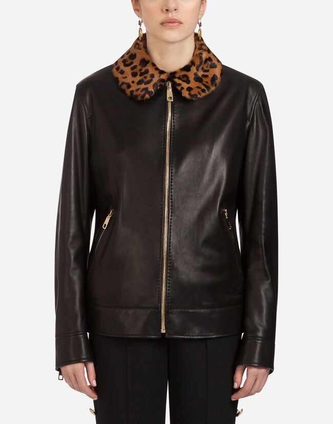 5325c35377 Leather Jacket - Women's Blazers | Dolce&Gabbana