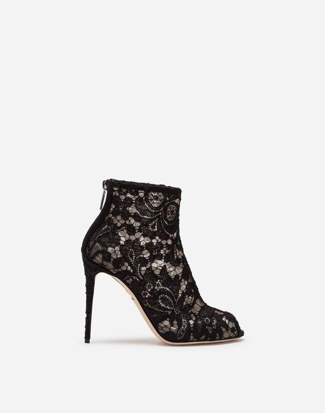 cb01fe7fd3a0f Boots In Lace - Women   Dolce Gabbana