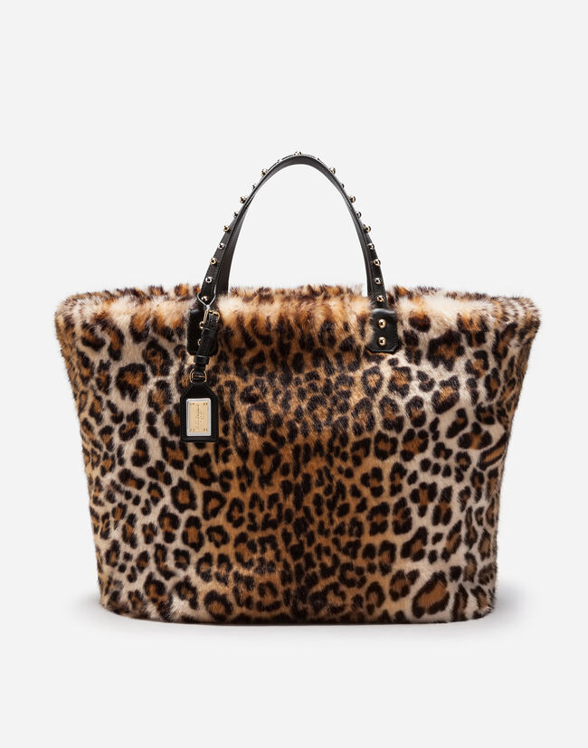 Beatrice Shopping Bag In Leopard Faux Fur - Women s Bags  396bb1a956206