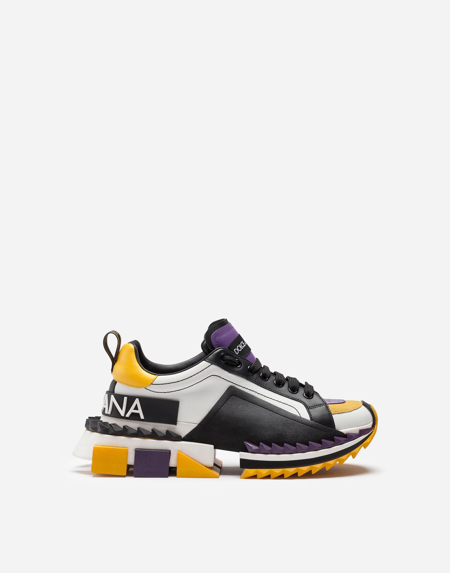 Sneakers pour Femme   Dolce&Gabbana BASKETS SUPER QUEEN MULTICOLORES