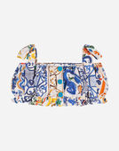 Dolce&Gabbana MAJOLICA-PRINT COTTON TOP