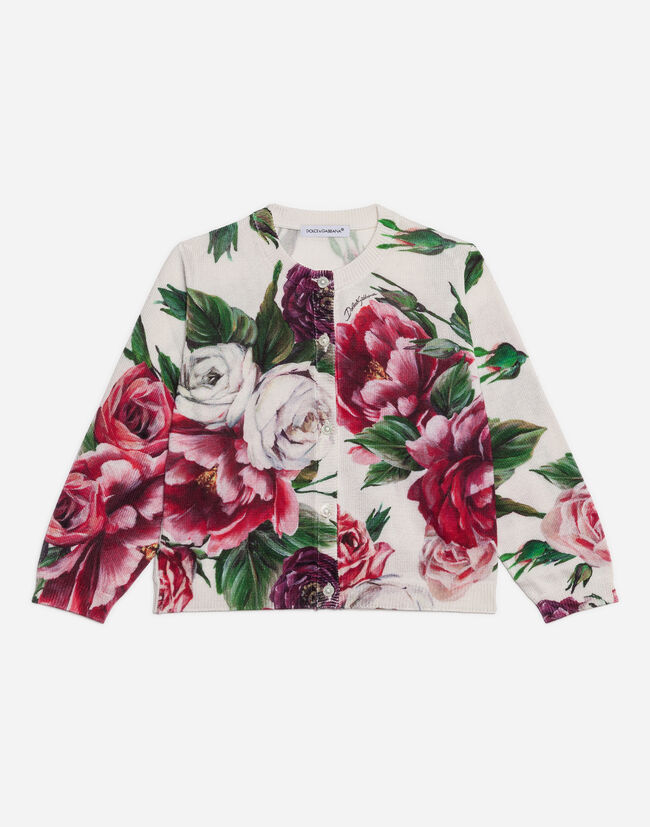 Dolce&Gabbana PRINTED KNIT CARDIGAN