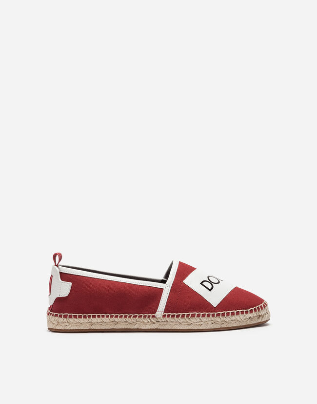 ESPADRILLES IN CANVAS AND CALFSKIN