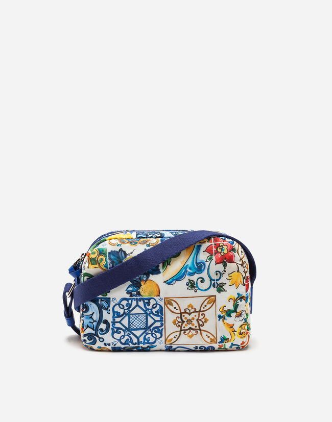 Dolce&Gabbana PRINTED NYLON SHOULDER BAG