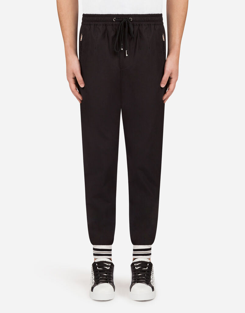 COTTON POPLIN JOGGING PANTS
