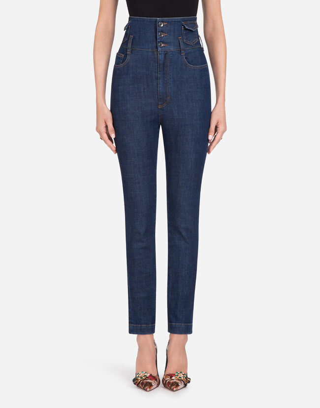 STRETCH COTTON FIVE-POCKET JEANS