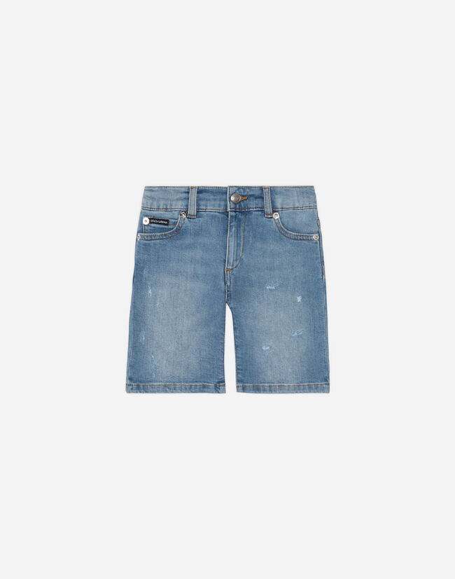 DENIM JEAN SHORTS WITH PATCH