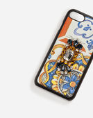IPHONE 7 COVER IN MAJOLICA-PRINT DAUPHINE CALFSKIN