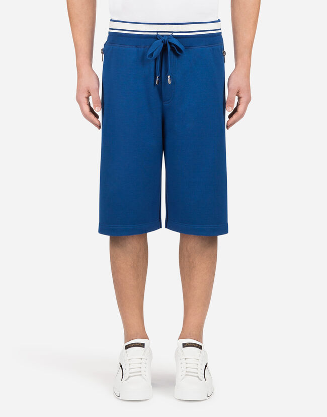 Dolce&Gabbana COTTON JOGGING SHORTS WITH PRINT
