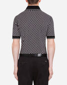 PRINTED COTTON PIQUÉ POLO SHIRT WITH PATCH
