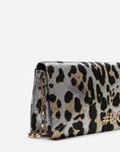 DG GIRLS CLUTCH IN LEOPARD JACQUARD
