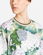 SWEATSHIRT IN PRINTED COTTON WITH PATCH