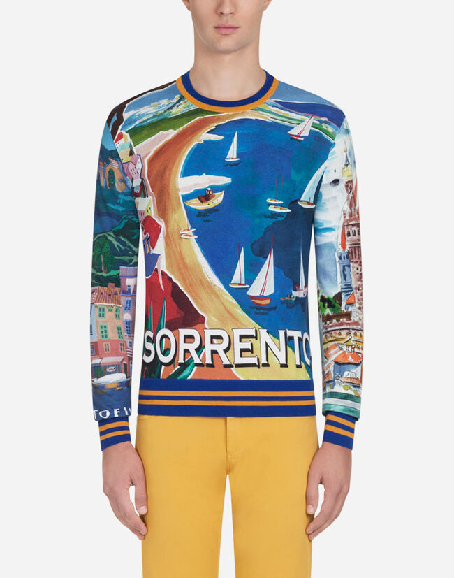 Dolce&Gabbana PRINTED CASHMERE AND SILK SWEATER