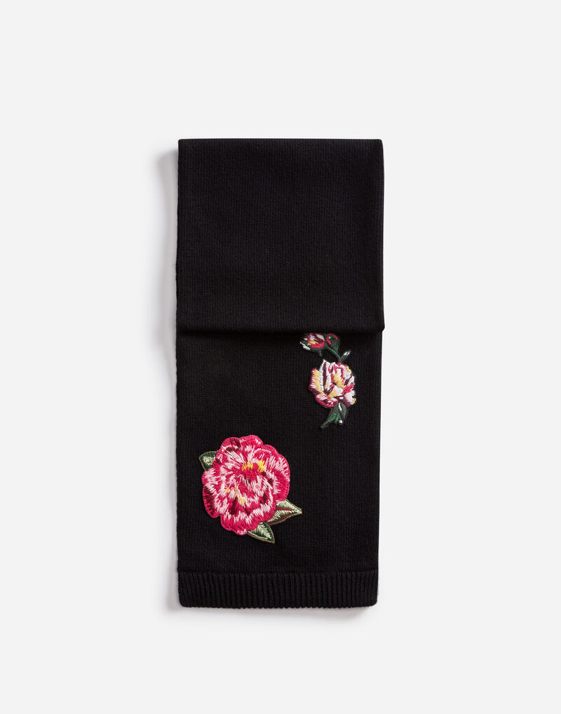 WOOL SCARF WITH PATCHES
