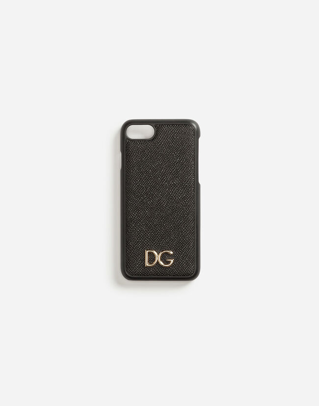 DAUPHINE CALFSKIN IPHONE 7 COVER WITH DG LOGO
