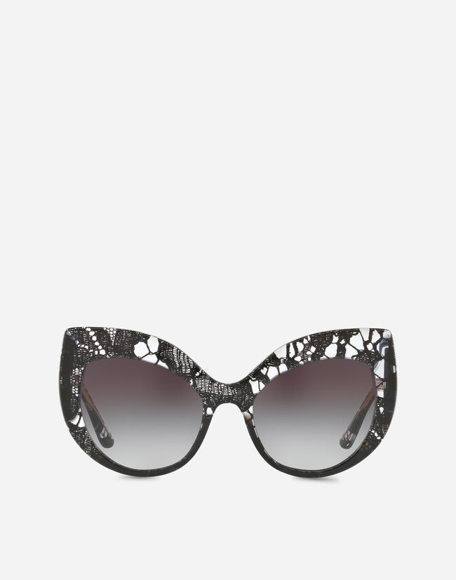 3f97184b98c3 Cat Eye Lace Acetate Sunglasses - Women | Dolce&Gabbana