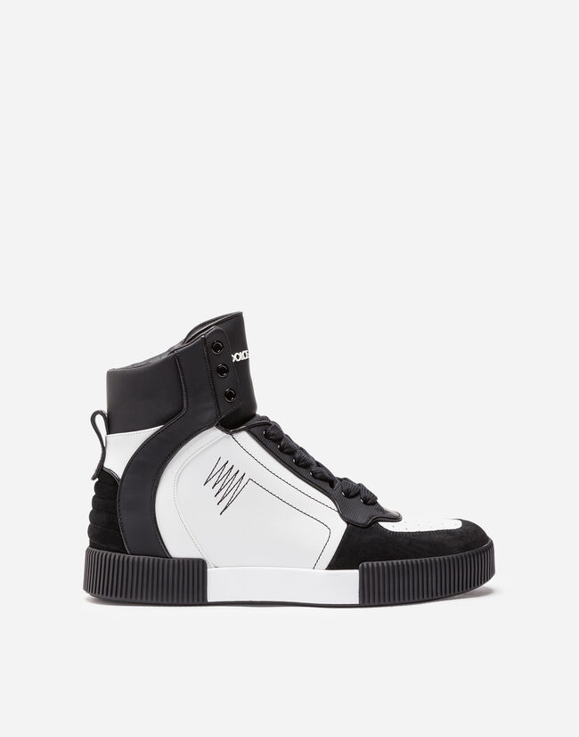 HIGH-TOP LEATHER SNEAKERS