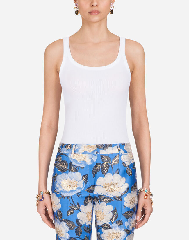 Dolce&Gabbana SLEEVELESS COTTON T-SHIRT
