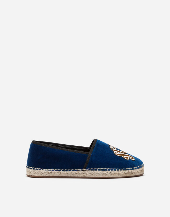 VELVET ESPADRILLES WITH EMBROIDERY