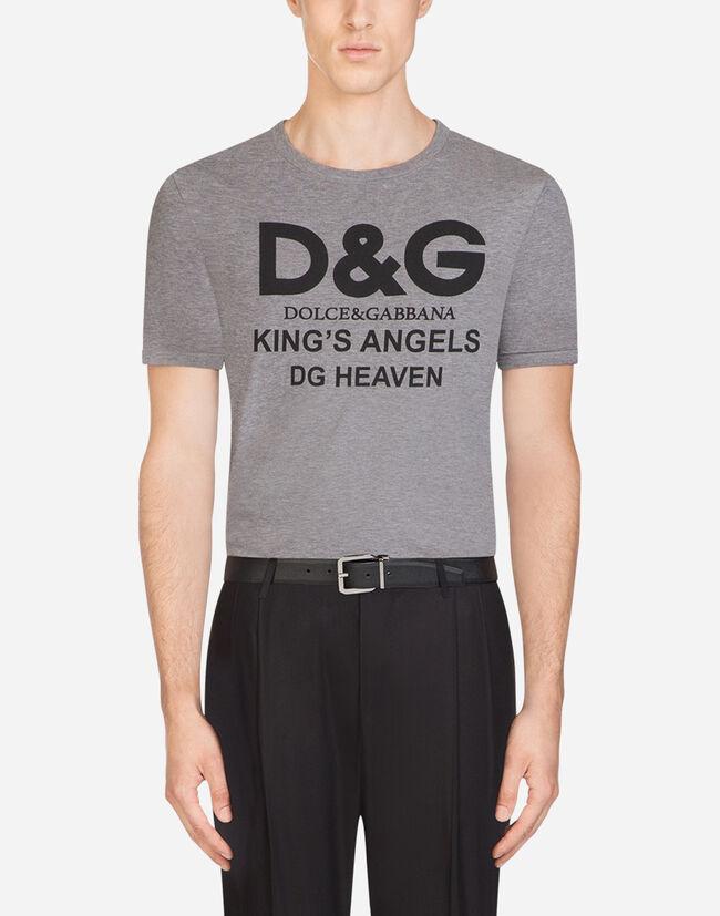 Dolce & Gabbana COTTON T-SHIRT WITH D&G PRINT