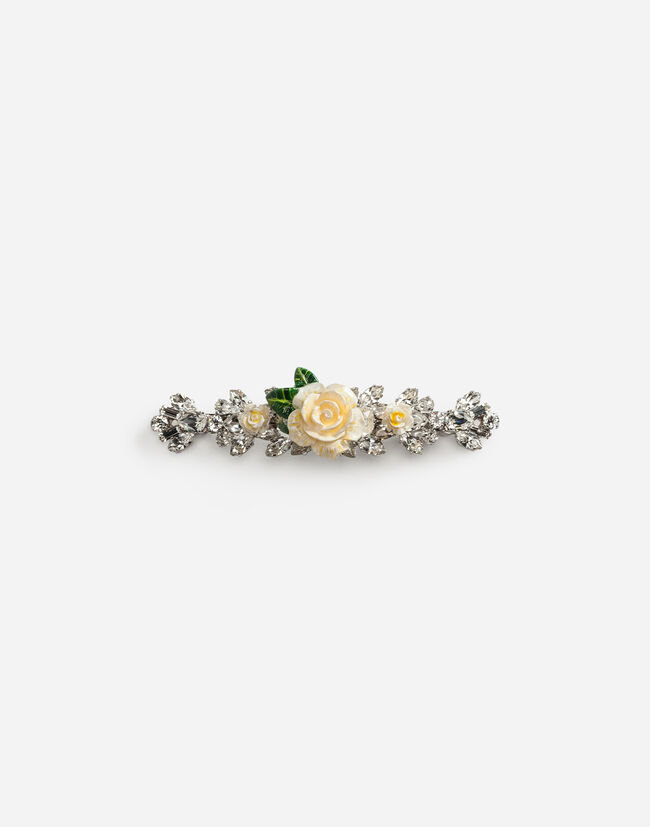 Dolce&Gabbana HAIR CLIP WITH ROSES