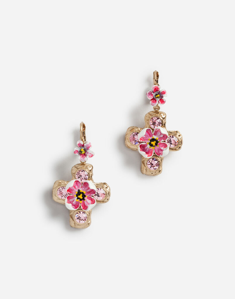 Dolce Gabbana Pendant Earrings With Decorative Elements