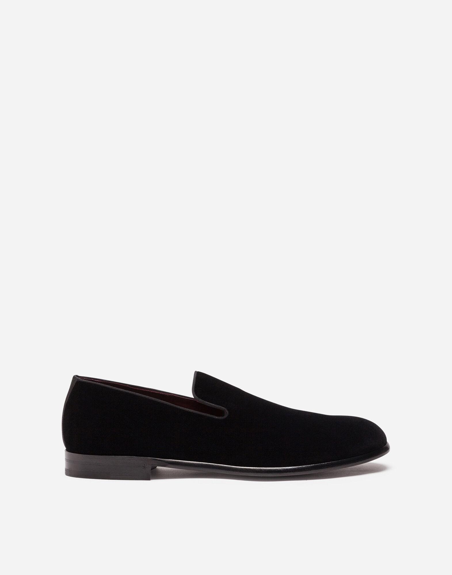Pantofola In Velluto Scarpe Uomo | Dolce&Gabbana