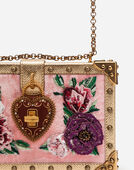 VELVET MY HEART CLUTCH WITH EMBROIDERED PATCHES