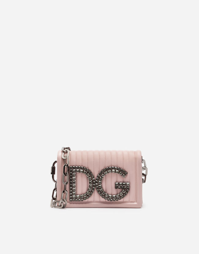 DG GIRLS SHOULDER BAG IN QUILTED NAPPA LEATHER
