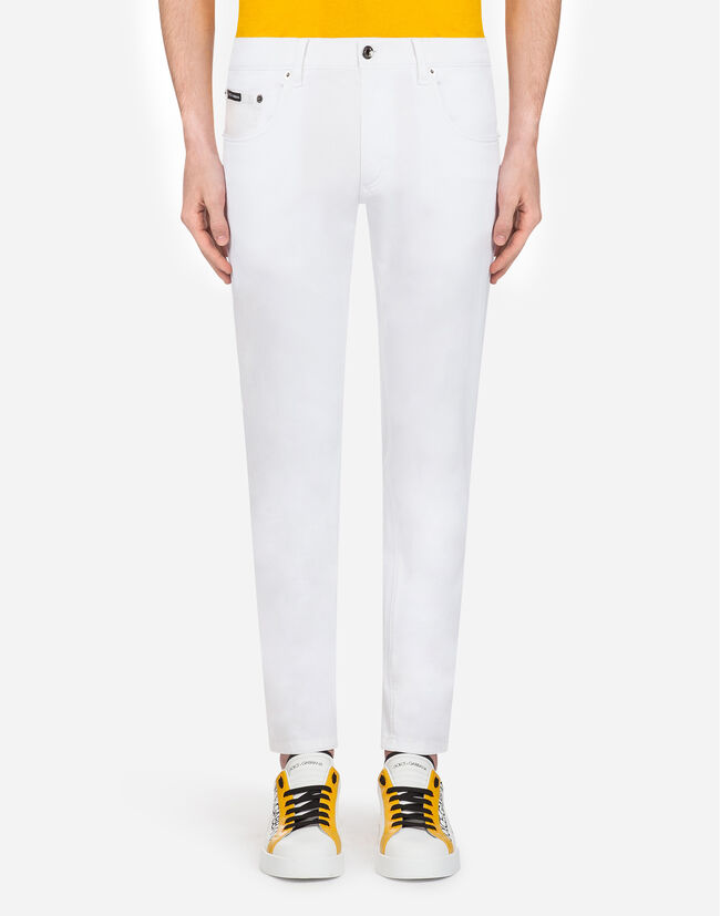 Dolce&Gabbana FIVE POCKET TROUSERS IN STRETCH COTTON