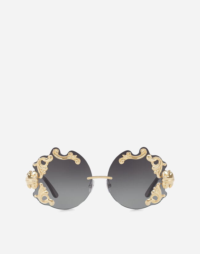 Dolce&Gabbana SUNGLASSES WITH BAROQUE APPLIQUÉ