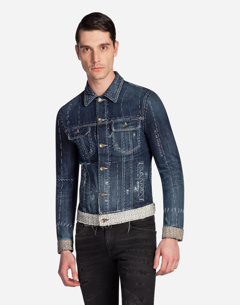 DENIM JACKET WITH TAILOR STITCHINGS