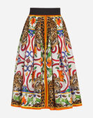 CIRCLE SKIRT IN PRINTED COTTON