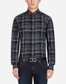 Dolce&Gabbana COTTON SHIRT WITH PATCH