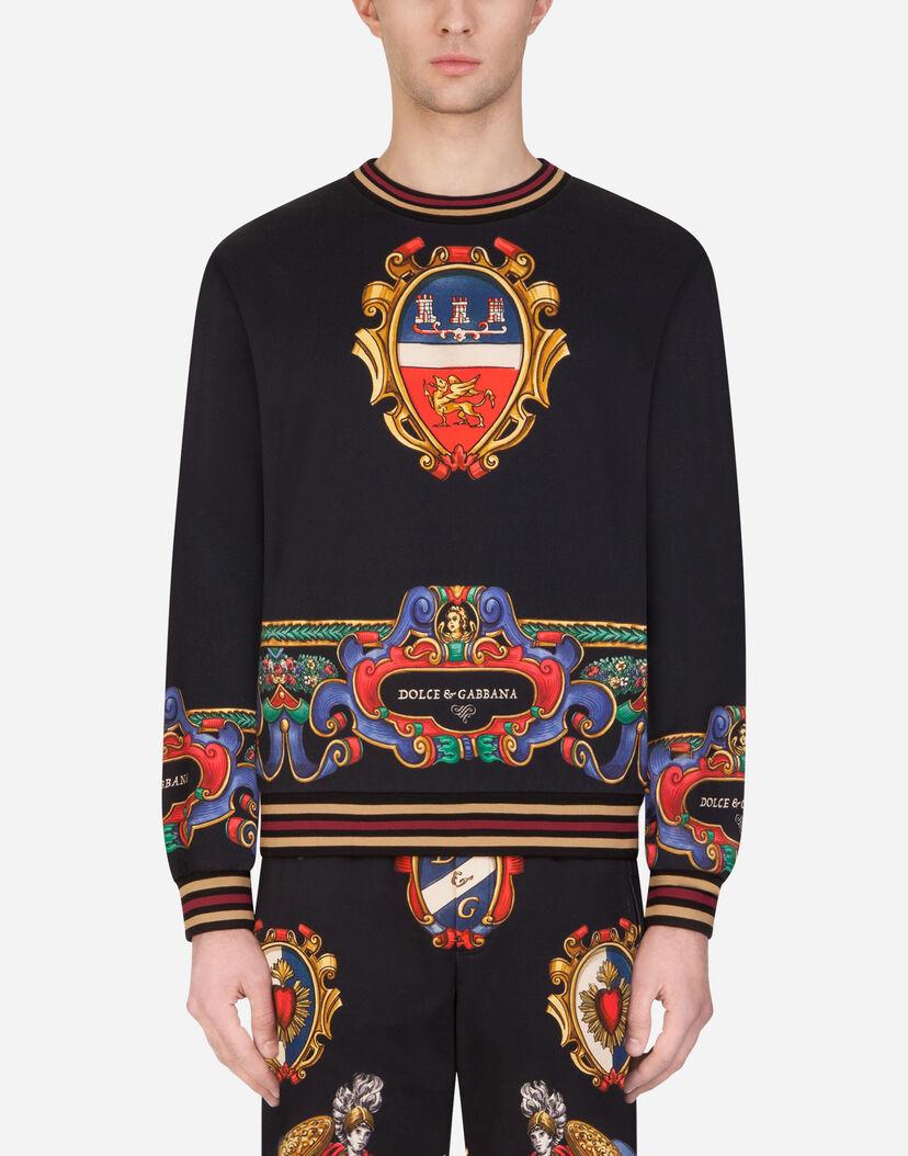 sélectionner pour le meilleur date de sortie: Achat/Vente Sweatshirts Homme | Dolce&Gabbana - SWEAT-SHIRT EN COTON AVEC IMPRIMÉ  HÉRALDIQUE