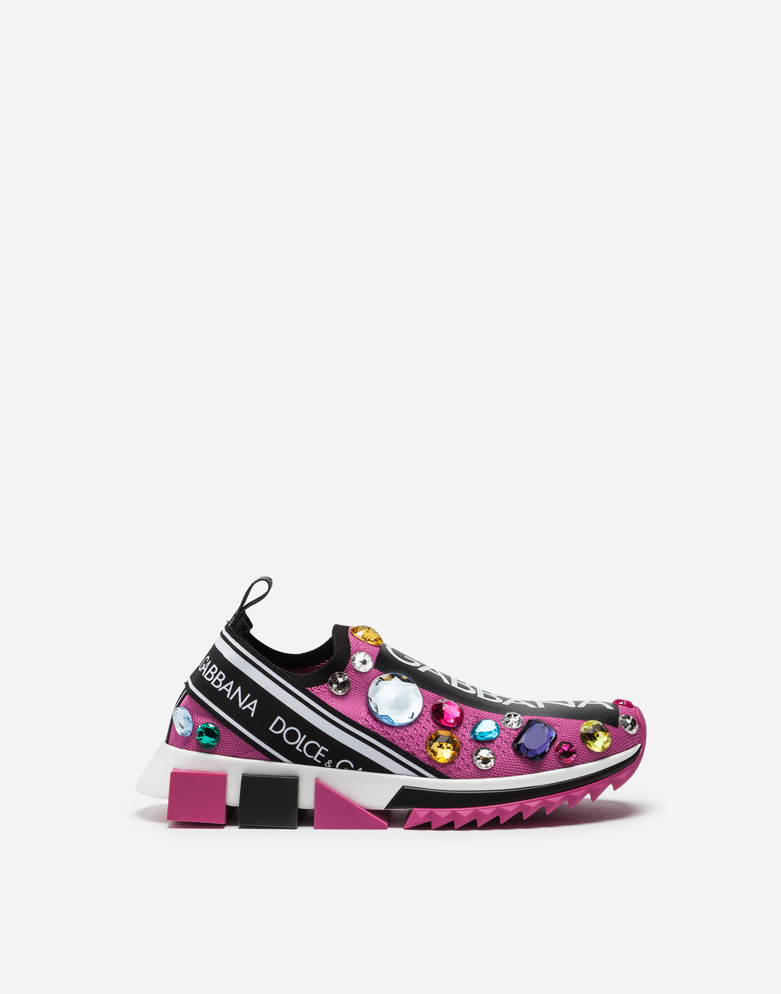 Sorrento Sneakers With Embroidery, Fuchsia