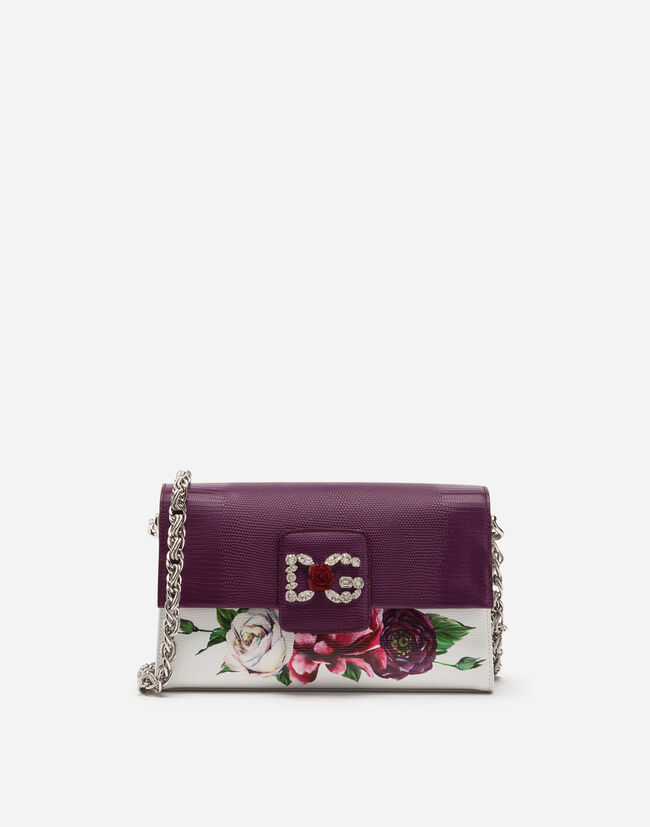 DG MILLENNIALS SHOULDER BAG IN PRINTED BOARDED CALFSKIN